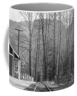 Coffee Mug featuring the photograph Country Train Depot by Tikvah's Hope
