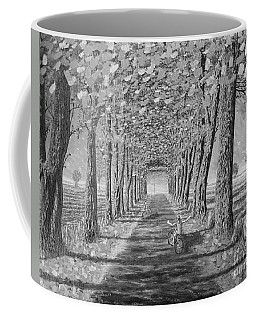Coffee Mug featuring the painting Country.fall.bw by Viktor Lazarev
