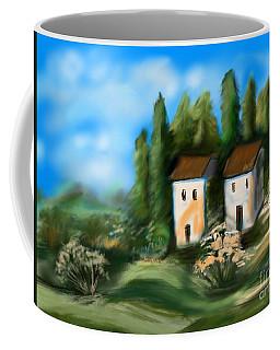 Coffee Mug featuring the digital art Countryside by Christine Fournier