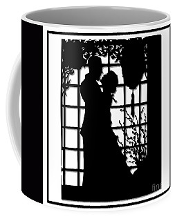 Coffee Mug featuring the digital art Couple In Love Silhouette by Rose Santuci-Sofranko