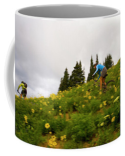 Couple Mountain Biking, Colorado Coffee Mug