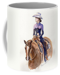 Horse Painting Cowgirl Courage Coffee Mug