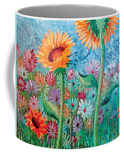 Courting Sunflowers Coffee Mug