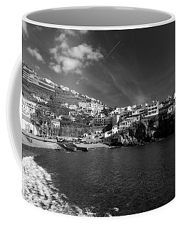 Cove In Black And White Coffee Mug