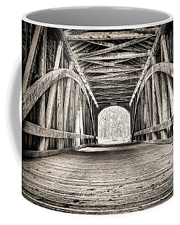 Covered Bridge B N W Coffee Mug