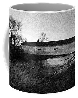 Coffee Mug featuring the photograph Covered Bridge Elizabethton Tennessee C. 1882 by Denise Beverly