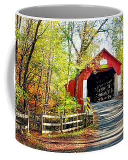 Covered Bridge In Bucks County Coffee Mug
