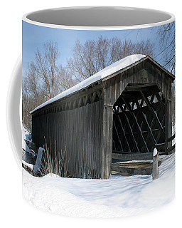 Covered Bridge In Winter Coffee Mug
