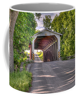Coffee Mug featuring the photograph Covered Bridge by Jim Thompson