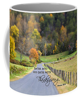 Cow Pasture With Scripture Coffee Mug