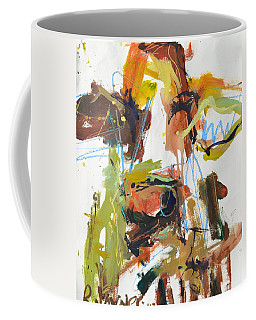 Cow With Green And Brown Coffee Mug