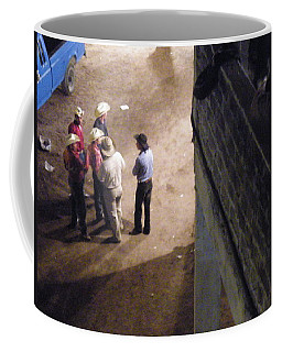 Coffee Mug featuring the photograph Cowboy Conference by Brian Boyle