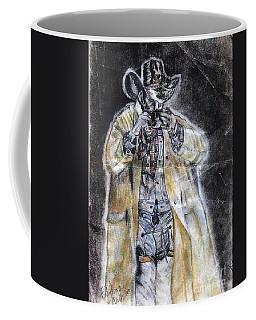 Cowboy Drinking Coffee Coffee Mug by Francine Heykoop