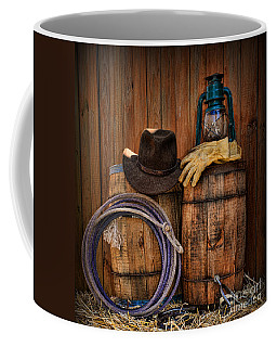 Cowboy Hat And Bronco Riding Gloves Coffee Mug