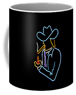 Cowboy In Neon Coffee Mug by Art Block Collections