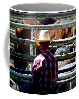 Coffee Mug featuring the photograph Cowboys Corral by Susan Garren