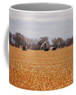 Coffee Mug featuring the photograph Cows In The Corn by Mary Carol Story