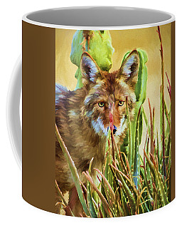 Coyote In The Aloe Coffee Mug