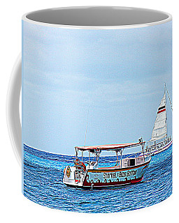 Coffee Mug featuring the photograph Cozumel Excursion Boats by Debra Martz