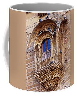 Cozy Ornate Balcony Window Jaisalmer Fort Rajasthan India Coffee Mug