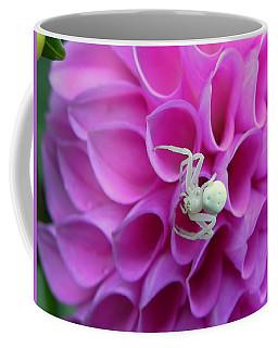 Crab Spider And Dahlia Coffee Mug