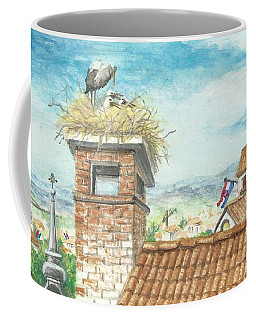Cranes In Croatia Coffee Mug