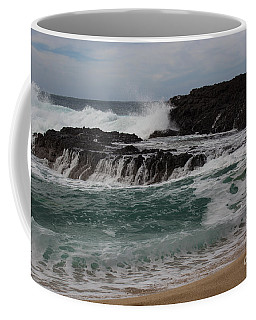 Coffee Mug featuring the photograph Crashing Surf by Suzanne Luft