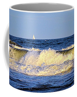 Crashing Waves And White Sails Coffee Mug