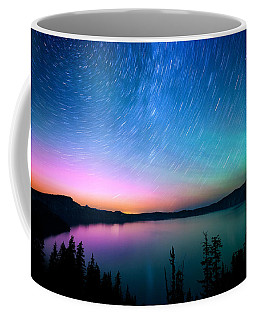 Crater Lake Aurora  Coffee Mug