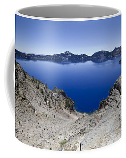 Coffee Mug featuring the photograph Crater Lake by David Millenheft