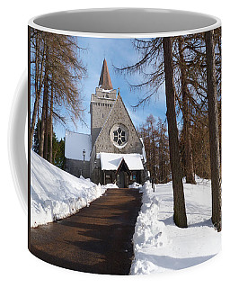 Crathie Parish Church In Winter Coffee Mug