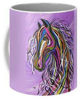 Coffee Mug featuring the painting Crazy Horse by Janice Rae Pariza