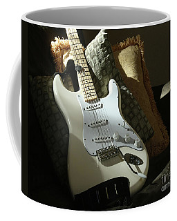 Cream Guitar Coffee Mug