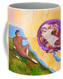 Creation Of A Sock Monkey Coffee Mug