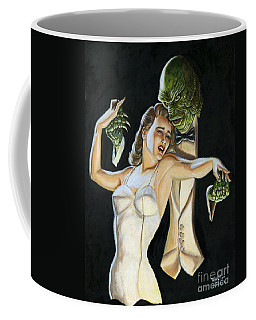Creature From The Black Tie Lagoon Coffee Mug by Mark Tavares