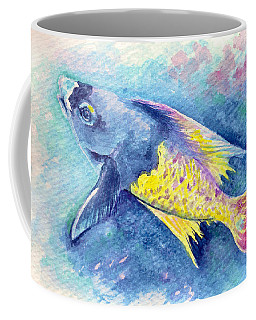 Coffee Mug featuring the painting Creole Wrasse by Ashley Kujan