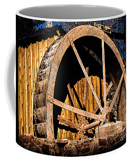 Old Building And Water Wheel Coffee Mug