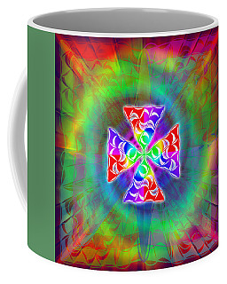 Coffee Mug featuring the drawing Crescent Pyramids by Derek Gedney