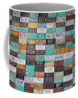 Crested Butte License Plate House Coffee Mug by Fiona Kennard