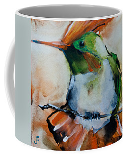 Crested Croquette Hummingbird Coffee Mug