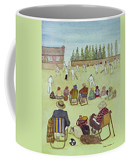 Cricket On The Green, 1987 Watercolour On Paper Coffee Mug