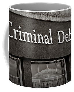 Criminal Defense Law Practice Coffee Mug by Phil Cardamone