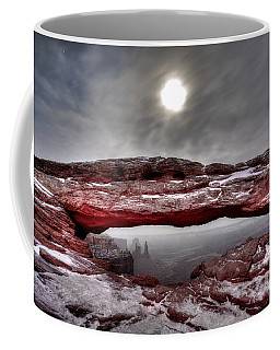 Coffee Mug featuring the photograph Crimson Arch by David Andersen