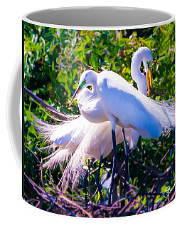 Criss-cross Egrets Coffee Mug