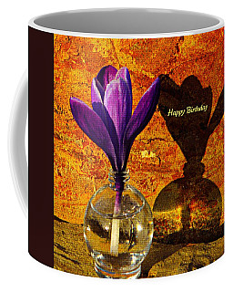 Crocus Floral Birthday Card Coffee Mug