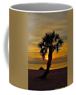 Coffee Mug featuring the photograph Crooked Palm Sunset by Richard Zentner