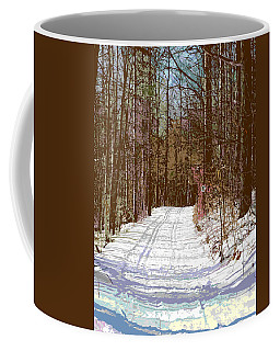 Coffee Mug featuring the photograph Cross Country Trail by Nina Silver