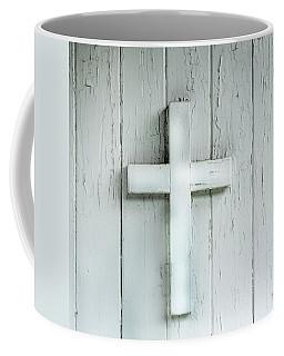 Cross On Holy Angels Sugar Island Michigan Coffee Mug