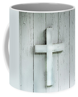 Cross On Holy Angels Sugar Island Michigan Coffee Mug