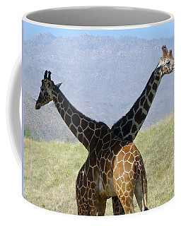 Crossed Giraffes Coffee Mug